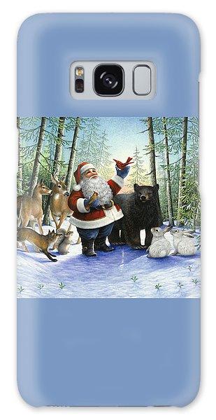 Santa's Christmas Morning Galaxy Case