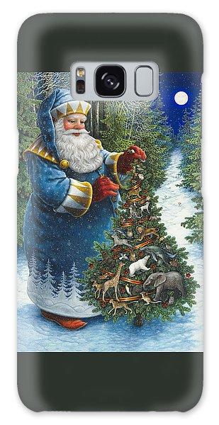 Santa's Christmas Tree Galaxy Case