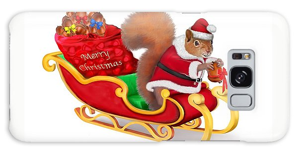 Santa's Little Helper Galaxy Case by Glenn Holbrook
