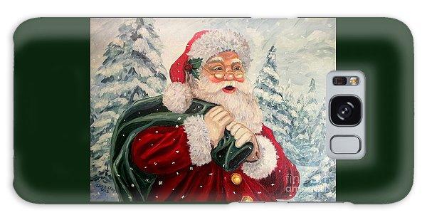 Santa's On His Way Galaxy Case