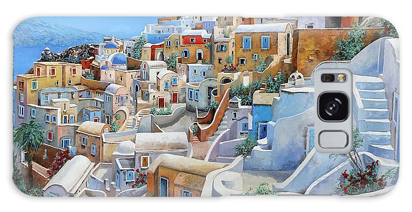 Place Galaxy Case - Santorini A Colori by Guido Borelli