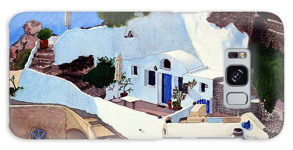 Santorini Cave Homes Galaxy Case by Mike Robles