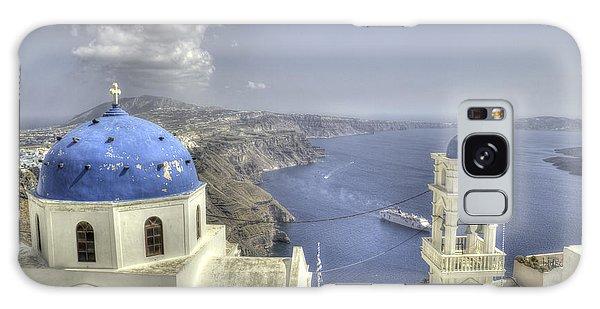 Santorini Churches Galaxy Case by Alex Dudley