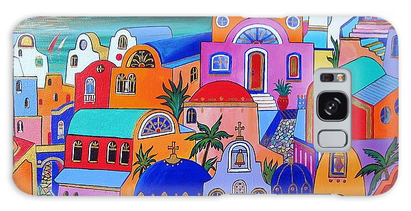Santorini Colors Galaxy Case by Roberto Gagliardi