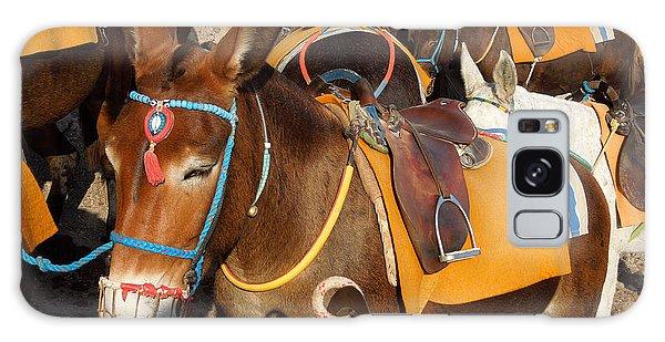 Santorini Donkeys Ready For Work Galaxy Case