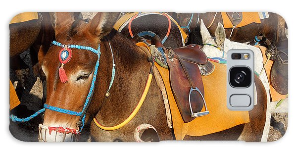Santorini Donkeys Ready For Work Galaxy Case by Colette V Hera  Guggenheim