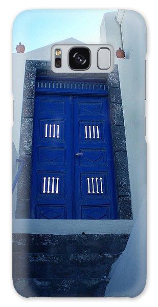 Santorini Door  To Heaven  Galaxy Case