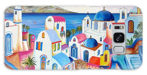 Santorini Greece Galaxy Case by Roberto Gagliardi