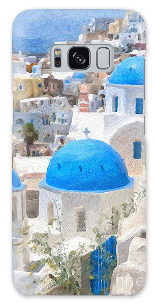 Santorini Oil Painting Galaxy Case