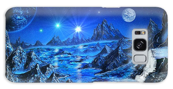 Sapphire Planet Galaxy Case by Michael Rucker