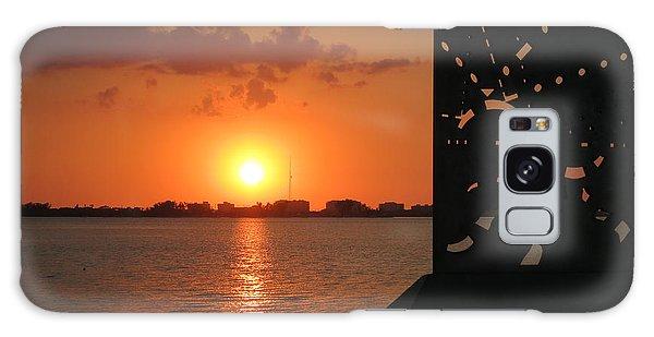 Sarasota Bay Sunset Galaxy Case