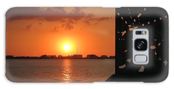 Sarasota Bay Sunset Galaxy Case