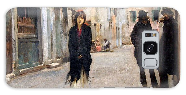 Sargent's Street In Venice Galaxy Case