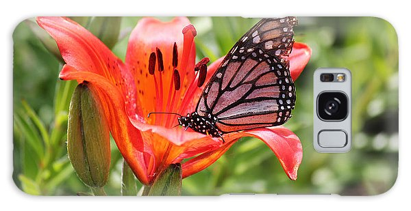 Saskatchewan Prairie Lily And Butterfly Galaxy Case