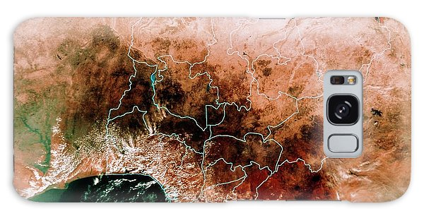 Nigeria Galaxy Case - Satellite Mosaic Of Nigeria by Mda Information Systems/science Photo Library