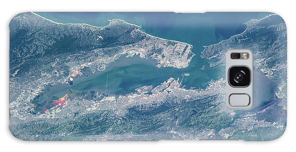 Usa Map Galaxy Case - Satellite View Of San Francisco by Panoramic Images
