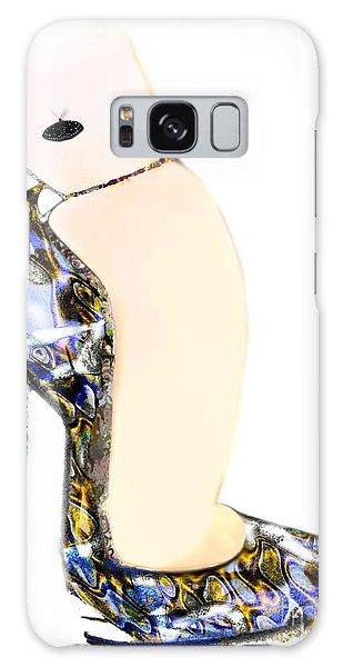 Satin Slipper - Blue Shoe Galaxy Case