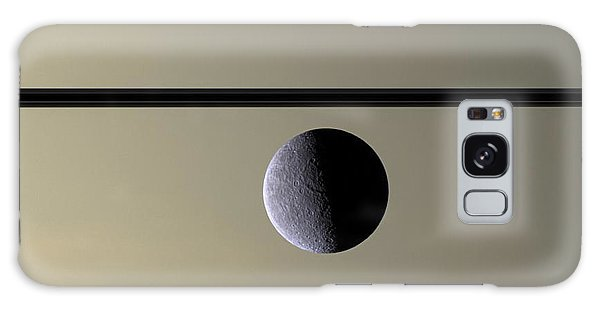 Saturn Rhea Contemporary Abstract Galaxy Case