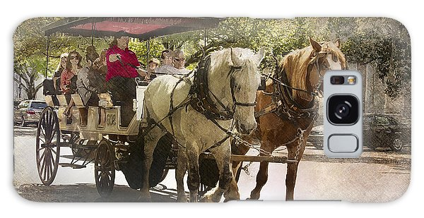 Savannah Carriage Ride Galaxy Case by Carrie Cranwill