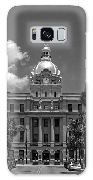 Savannah City Hall In Black And White Galaxy Case