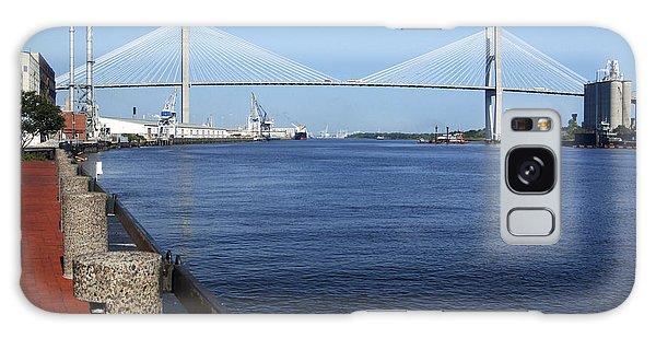 Savannah River Bridge Ga Galaxy Case