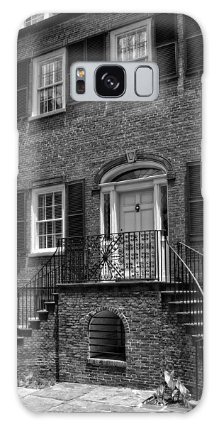 Savannah's Davenport House In Black And White Galaxy Case