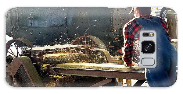 Sawmill Planer In Action Galaxy Case by Pete Trenholm