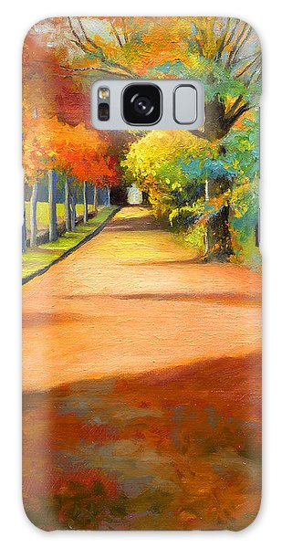 Sawmill Road Autumn Vermont Landscape Galaxy Case by Catherine Twomey