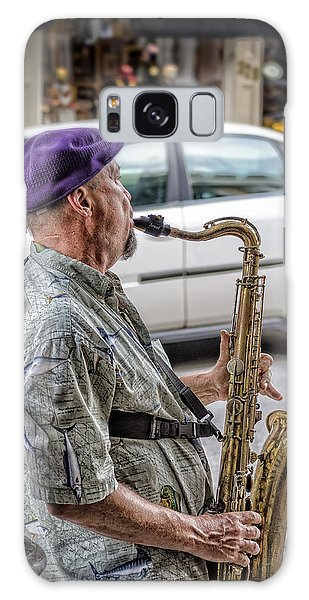 Sax In The Street Galaxy Case