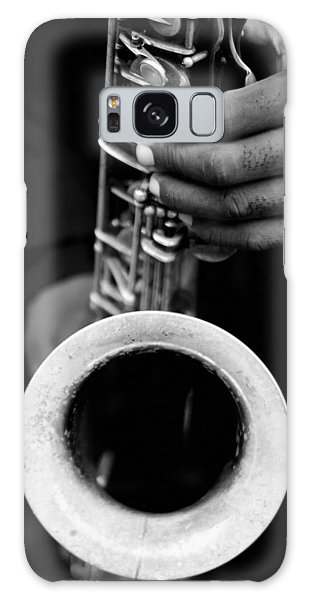 Sax Player Galaxy Case by Dave Beckerman