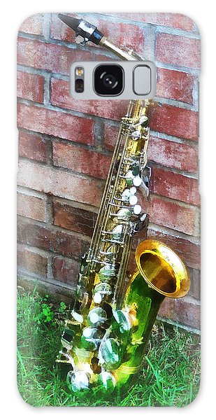 Saxophone Against Brick Galaxy Case