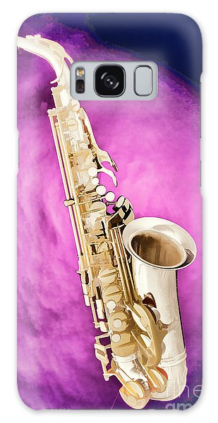 Saxophone Jazz Instrument Bell Painting In Color 3272.02 Galaxy Case