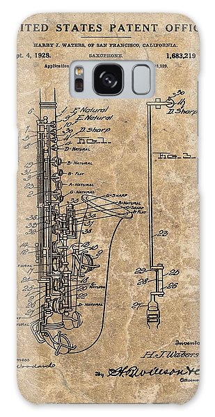 Saxophone Patent Design Illustration Galaxy Case by Dan Sproul