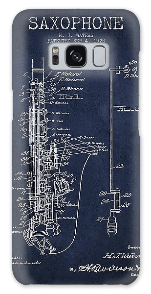 Saxophone Patent Drawing From 1928 Galaxy Case by Aged Pixel