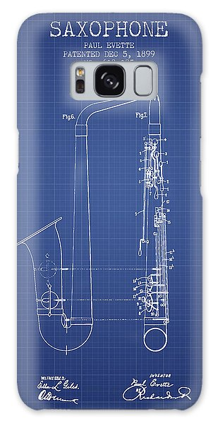 Saxophone Patent From 1899 - Blueprint Galaxy Case by Aged Pixel