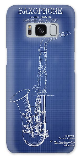Saxophone Patent From 1937 - Blueprint Galaxy Case by Aged Pixel