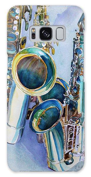 Saxophone Galaxy Case - Saxy Trio by Jenny Armitage