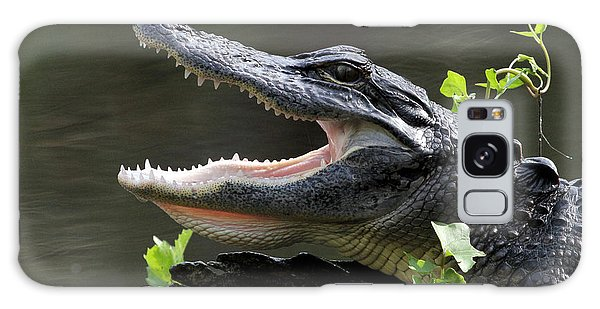 Say Aah - American Alligator Galaxy Case by Meg Rousher
