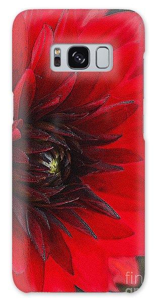 Scarlet Dahlia Galaxy Case by Janice Rae Pariza