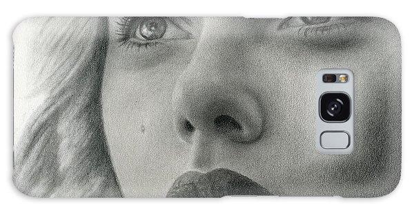 Scarlet Johansson Galaxy Case by Erin Mathis