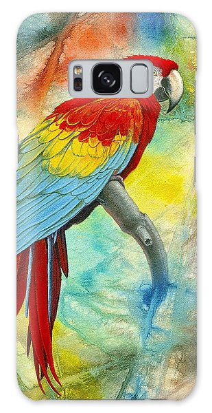 Scarlet Macaw In Abstract Galaxy S8 Case