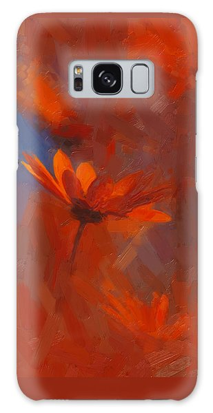 Scarlet Petals  Galaxy Case by Paul Davenport