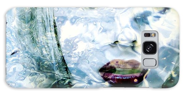Scarlett Johansson Portrait - Water Reflections Series Galaxy Case