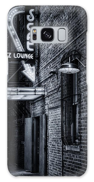 Galaxy Case featuring the photograph Scat Lounge In Cool Black And White by Joan Carroll