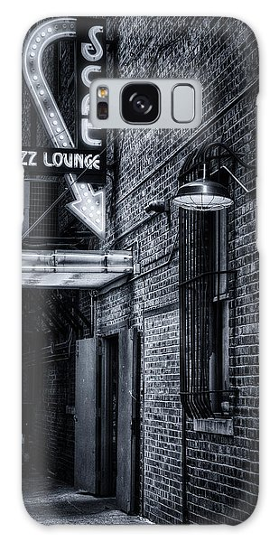 Scat Lounge In Cool Black And White Galaxy Case by Joan Carroll