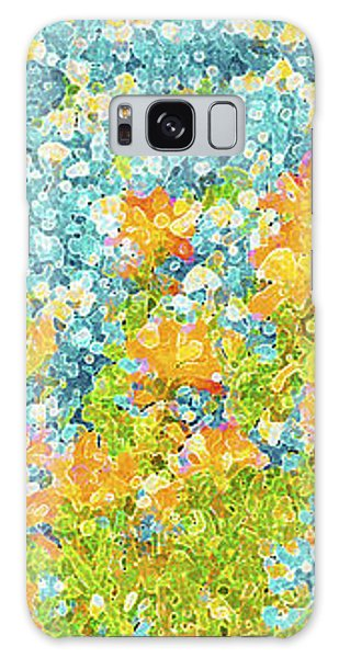 Semis Galaxy Case - Scattered Impressions Bold Wildflowers  by Pamela Smale Williams