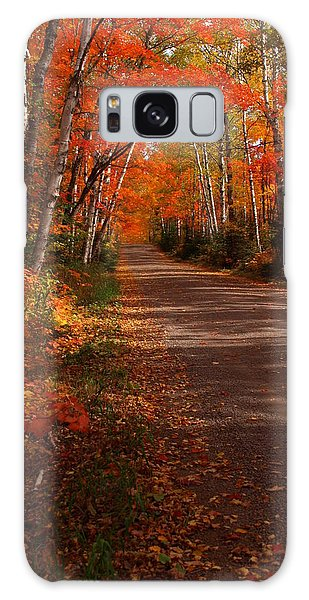 Scenic Maple Drive Galaxy Case by James Peterson