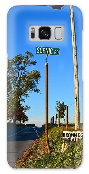 Scenic Road With Brown Eggs 3rd Lane Galaxy Case