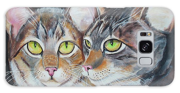 Scheming Cats Galaxy Case by Thomas J Herring