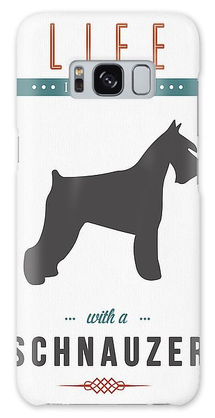 Quote Galaxy Case - Schnauzer 01 by Aged Pixel